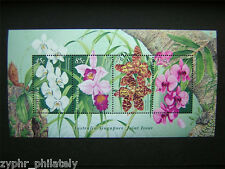 """Australia - Singapore JOINT Issue - """"FLOWERS ~ ORCHIDS"""" MNH MS 1998 !"""