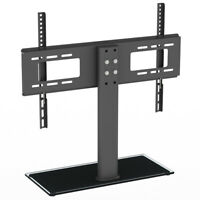 "Table Top TV Stand Base w/ Universal Swivel Mount Height Adjustable for 32""-55"""