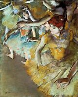Ballet Dancers on the Stage by Edgar Degas. Canvas Fun Art.  11x14 Print