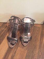 Gorgeous Silver Strappy Heels Karen Millen Size 3