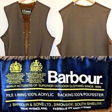 """Barbour Men's Brown UK 44"""" Warm Pile Liner For A7 Barbour International Jacket"""