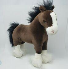"15"" GUND CLYDE BROWN CLYDESDALE STALLION HORSE STUFFED ANIMAL PLUSH TOY # 42985"