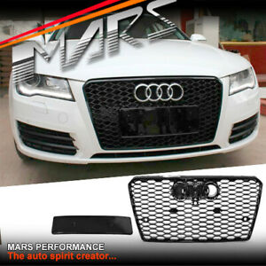 Gloss Black Honeycomb RS7 Style Front Bumper Grille Grill for AUDI A7 4G 10-14