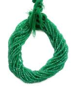 """1 to 5 Strand Green Onyx Rondelle Faceted 3.5-4mm,4-4.5mm 13""""Inch Gemstone Beads"""