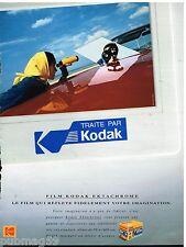 Publicité Advertising 1992 Pellicules Photo Ektachrome Kodak