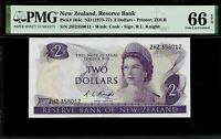 New Zealand 2  Dollars 1975-77  PMG 66 EPQ UNC Pick # 164c