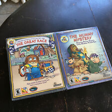 SEALED PACK OF 2 BIG BOX PC Games Mercer Mayer's Mummy Mystery & The Great Race