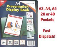 Quality Presentation Display Book Portfolio Project Menu Folder in A5, A4, A3