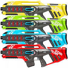 Infrared Laser Tag Blasters w/ Life Tracker Toys For Kids Multicolor Set of 4