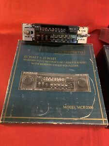 Majestic AM/FM Car Stereo Cassette 25Wx25W - MCR-2500 (NO Face Or Knobs)