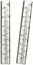 """New listing 2pcs Capacity Rain Gauge Glass Replacement Tube for Yard Garden Outdoor Home 5"""""""