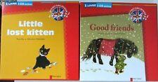 LOT 2 Livres-CD Audio Good Friends + Little lost kitten Père Castor anglais Neuf