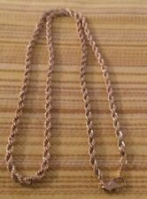 "4mm Gold Rope Chain 24"" 18K Gold Plated Stainless Steel"
