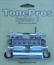 LPCM02-C TonePros Metric Bridge/Tailpiece Set Chrome Finish