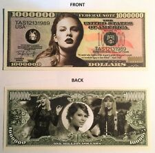 "Taylor Swift  ""Be Good To People"" $1,000,000 Novelty Note, Buy 5 Get one FREE"