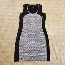 Athleta Women's BodyCon Black Gray Polka Dot Sleeveless Dress Summer Size Small