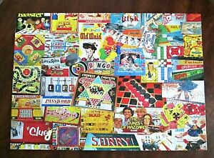 White Mountain jigsaw puzzle Games We Played 1000 piece sorry old maid bingo USA