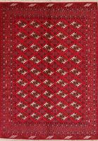 Geometric RED Balouch Afghan Oriental Area Rug Hand-Knotted All-Over Carpet 7x9