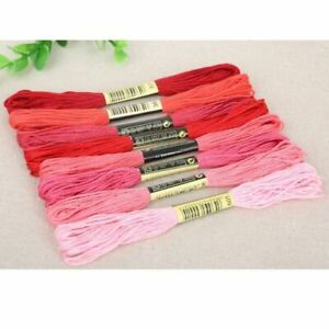 8pcs/set DMC Cross Stitch Cotton Embroidery Thread DIY Sewing Skeins Floss Craft