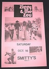 Vintage 1976 Ziggy & the Zeu Band Poster-Smitty's, Waunakee, Wisconsin-Oct 16th