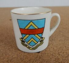 Crested Ware Tuscan China small model cup Monmouth Coat of Arms 4cm tall