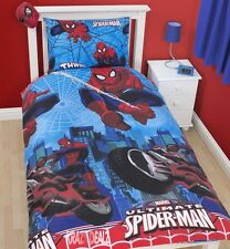 Official Spiderman City Single Duvet Cover Bed Set New Gift Disney XD Ultimate
