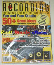RECORDING Magazine SEALED Ago 2008 50 + Great Ideas Sugar Bytes Effectrix No cd