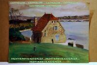 Aquarelle MAISON PONT DE PLOUGASTEL signée Loiselle & datée 20 02 39 LACHAUD