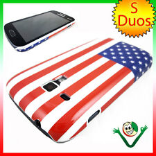 Custodia rigida BANDIERA Americana USA per Samsung Galaxy Trend Plus S7580 cover