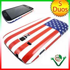 Custodia rigida BANDIERA Americana USA per Samsung Galaxy S duos 2 S7582 cover