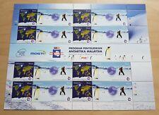 2012 Malaysia Antarctic Research Programme Penguin Bird 90sen x16 Stamps 1 Sheet