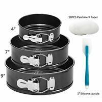 Springform Pan 3 Pcs Premium Non Stick Detachable Bakeware Silicone Spatula