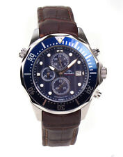 Rotary Aquaspeed Chronograph Brown Leather & Blue Dial Mens Watch AGS00070/C/05