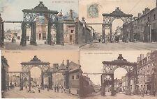 Lot 4 cartes postales anciennes REIMS porte de paris