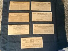Lot of 7 WWII 1942-1943 Income And Victory Tax Returns & Instructions
