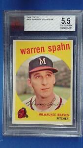 1959 Topps #40B WARREN SPAHN Error obscured 3 Milwaukee Braves BVG 5.5 ~SC3-171