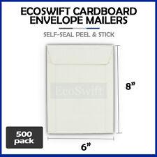 500 6 X 8 White Cddvd Photo Ship Flats Cardboard Envelope Mailer Mailers