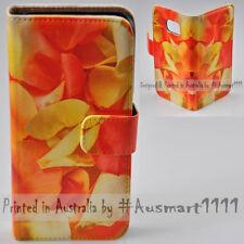 For HTC One X10 U11 Play U Ultra Desire 530 Yellow Petal Print Wallet Phone Case