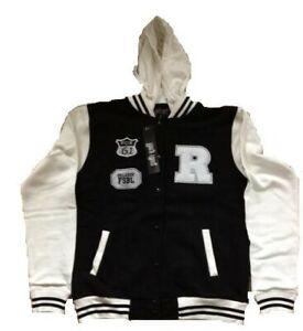 Hoodie Baseball Jacke Kapuzenpullover College Jacket Damen Herren BS1
