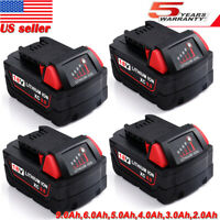 For Milwaukee M18 18Volt Lithium XC 9.0Ah Extended Battery 48-11-1852 48-11-1860