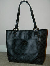COACH Signature Peyton Blackgrey/Black Tote Bag F18917