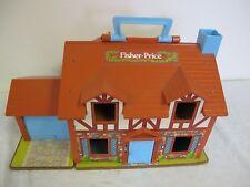 VINTAGE FISHER PRICE PLAY FAMILY TUDOR DOLLHOUSE HOUSE #952