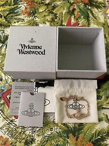 Vivienne Westwood Mini Bas Relief Bracelet Rose Gold. 100% Authentic. RRP £80