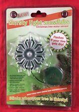 Hydrofarm Live Christmas Tree Water Sensor Thirsty Light Snowflake Moisture New