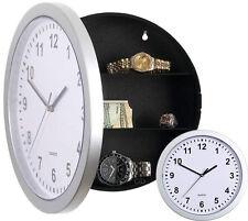 Reloj De Pared seguro Compartimiento Secreto Dinero Joyas depósito Real Reloj oculto