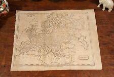 Original 1805 Rare Jedidiah Morse Antique World Map EUROPE London Paris Rome