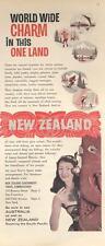 1960 New Zealand travel PRINT AD