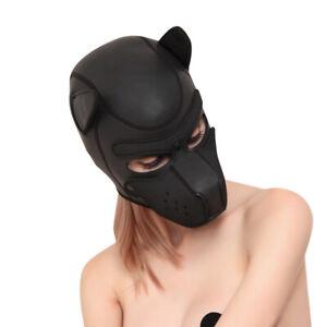 Cosplay Hundekopfbedeckung BDSMMaske Fetisch SMDogplay Petplay Kopfmaske