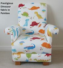 Prestigious Dinosaur Fabric Child's Chair Dino Kids Nursery Bedroom T-Rex Blue
