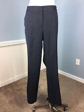 Talbots 16 navy Blue Pinstripe Dress Pants Wool Blend Stretch Excellent